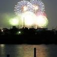 新中川から見た江戸川花火