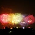 新中川から見た江戸川花火3
