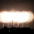 新中川から見た江戸川花火4