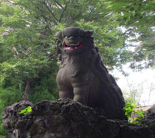 大杉天祖神社の狛犬1