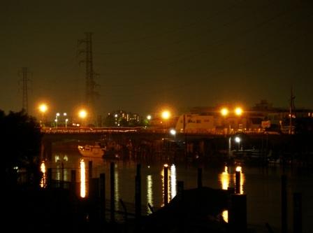 花火の後の新中川