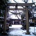 新小岩厄除香取神社の雪景色