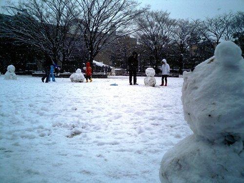 雪だるまがいっぱい